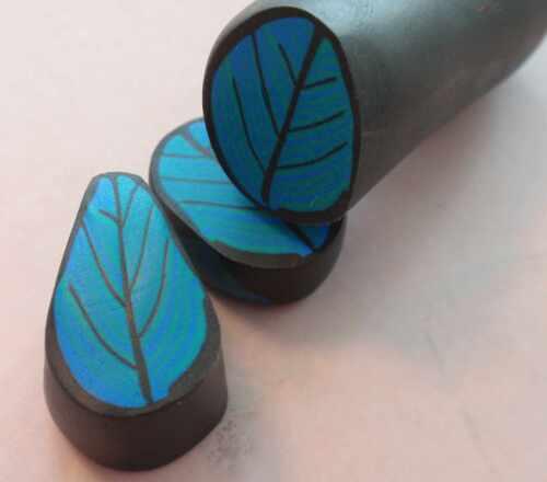 Fimocaneanleitung Blatt mit Farbverlauf