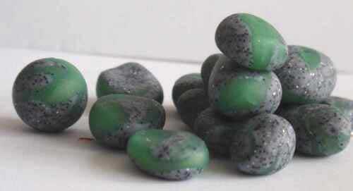 Jade-Fimo und Granit-Fimo Anleitung wunderschöne Jadeadern-Steinperlen