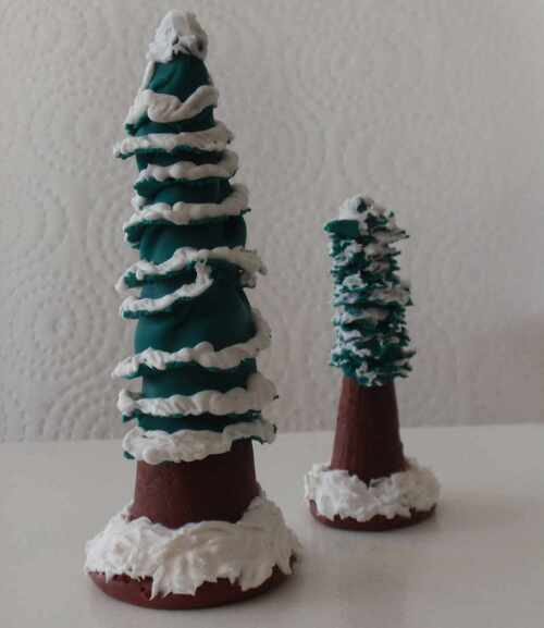 Clay Christmas Wintry Tree