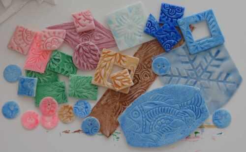 Keramikimitationen mit Fimo und Fimolack