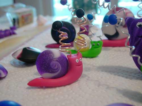 Schmuckständerschnecke für Swirlis. Eine Modellieranleitung von Tumana